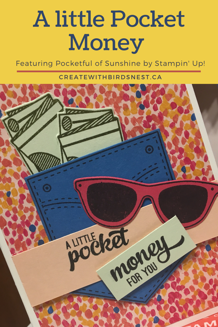 Pocket Full of Sunshine card with money pocket via @denise34