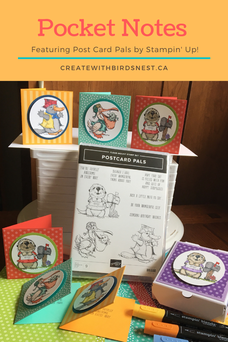 Postcard Pals pocket note card set via @denise34