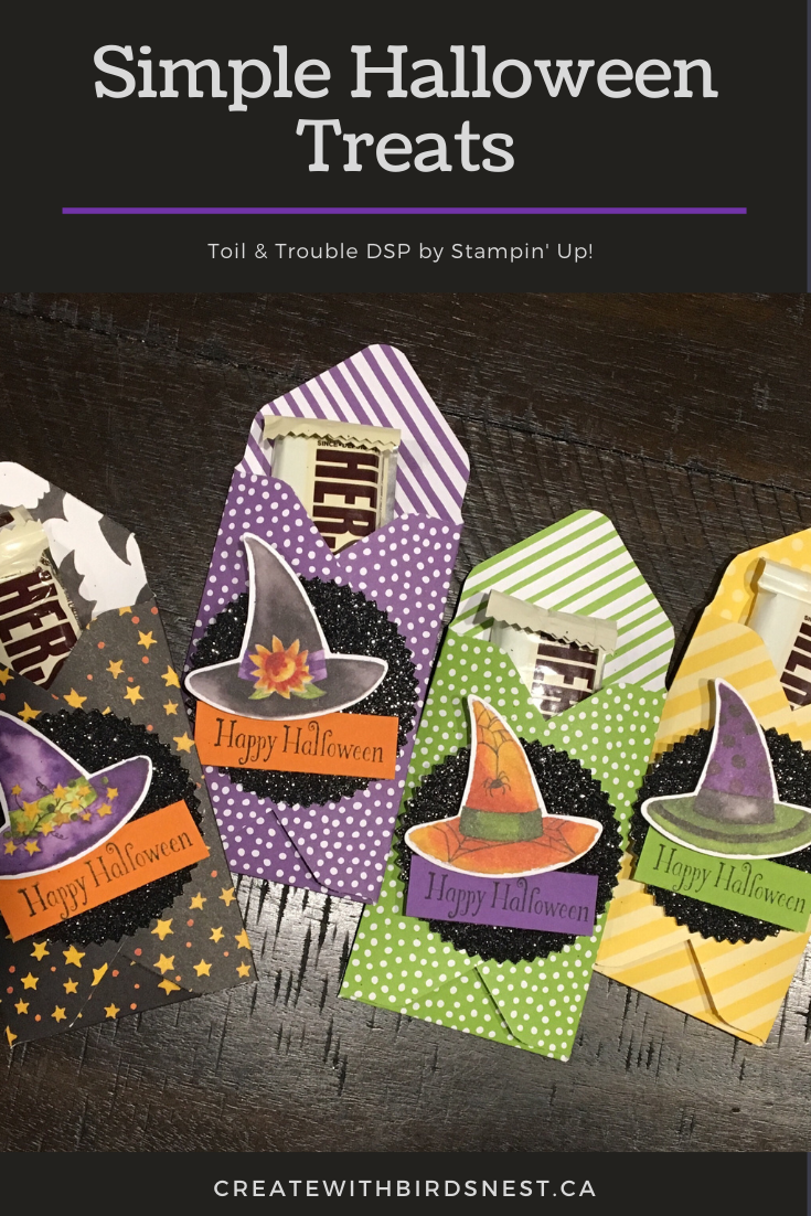 Stampin' Up! Toil & Trouble treat holders for Halloween via @denise34