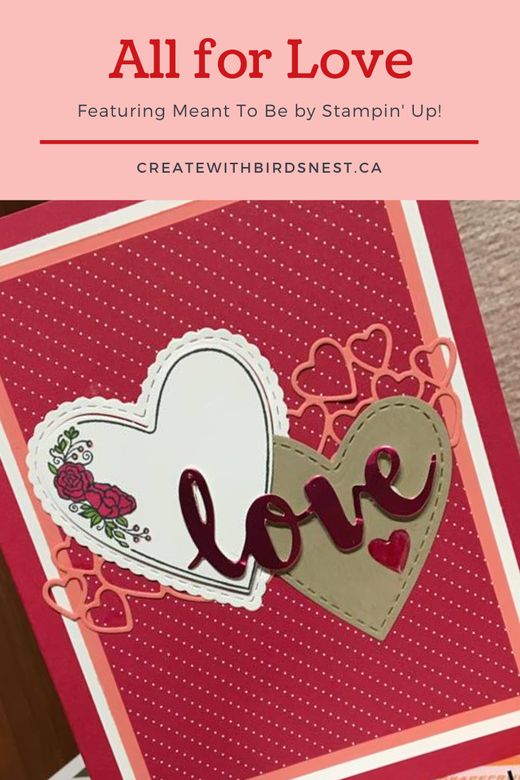 valentine's day card using Stampin' Up! Meant to Be bundle via @denise34