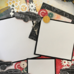 Car themes masculine scrapbook layout