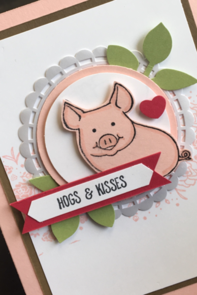 Hogs & kisses card using This Little Piggy stamp by Stampin' Up!