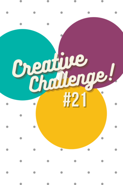Bermuda Bay, Rich Razzleberry and Crushed Curry coloured circles used to display the colour theme for Creative Challenge #21