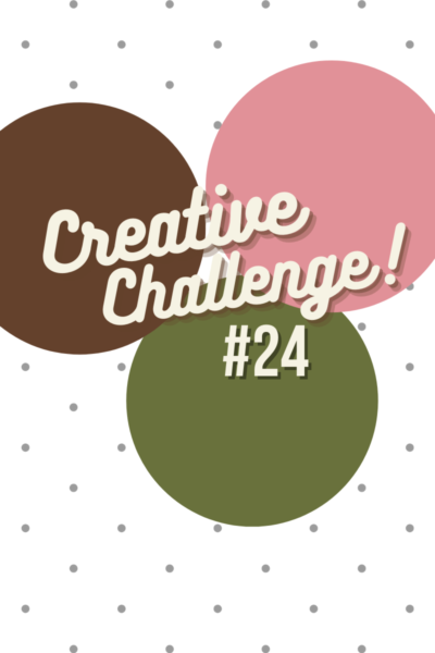 Early Espresso, Mossy Meadow and Rococo Rose coloured circles used to display the colour theme for Creative Challenge #24