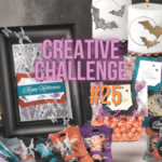 Halloween treats and decorations made from Stampin' UP! Magic In This Night product suite to show Halloween theme for Create with Birdsnest Creative Challenge #25