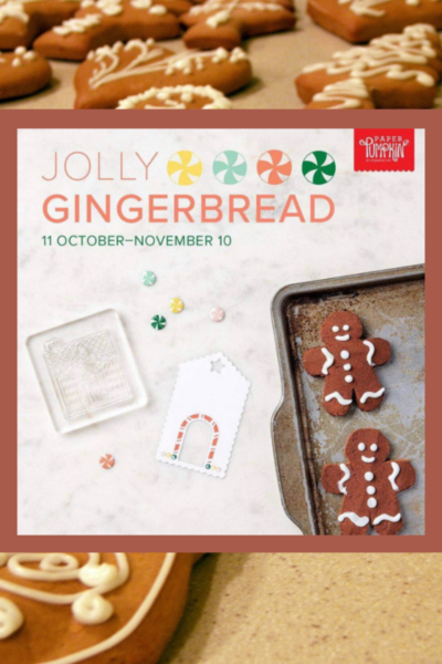 Gingerbread Men on cookie sheet to promote Stampin' Up!'s November Paper Pumpkin kit