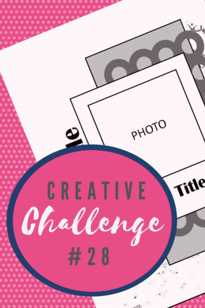 A snippet of the sketch layout being used in Creative Challenge #28