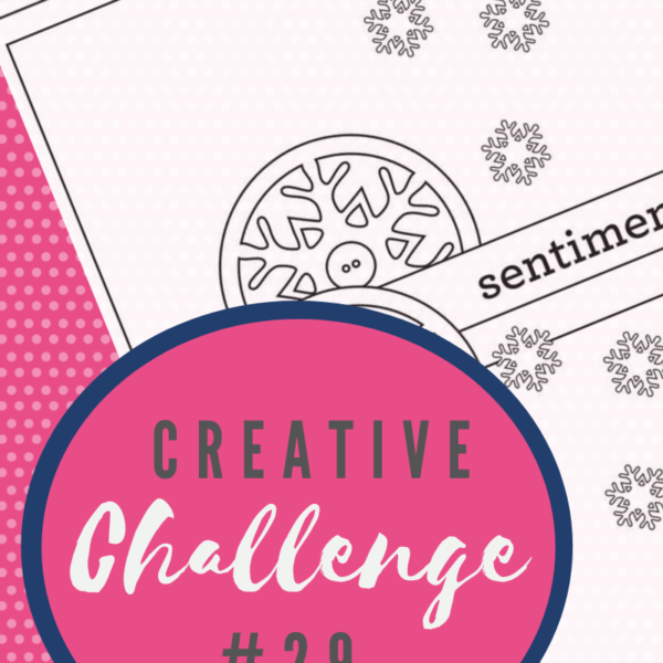 A snippet of the sketch layout being used in Creative Challenge #29