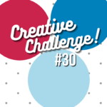 Real Read, Pacific Point and Balmy Bluecoloured circles used to display the colour theme for Creative Challenge #30