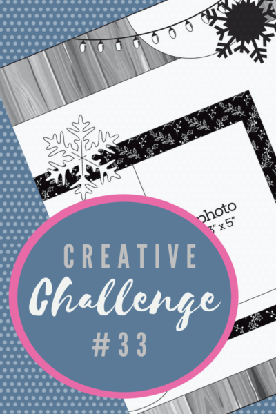 A snippet of the sketch layout being used in Creative Challenge #33