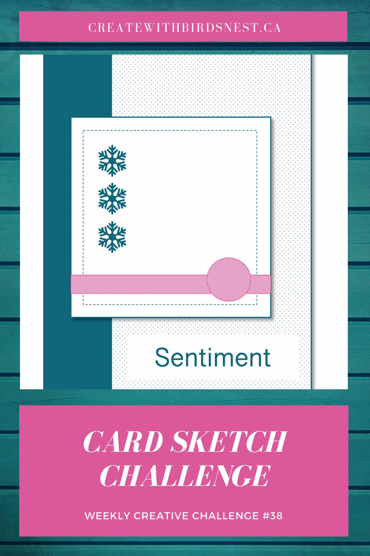 Creative Challenge #38: Card Sketch via @denise34