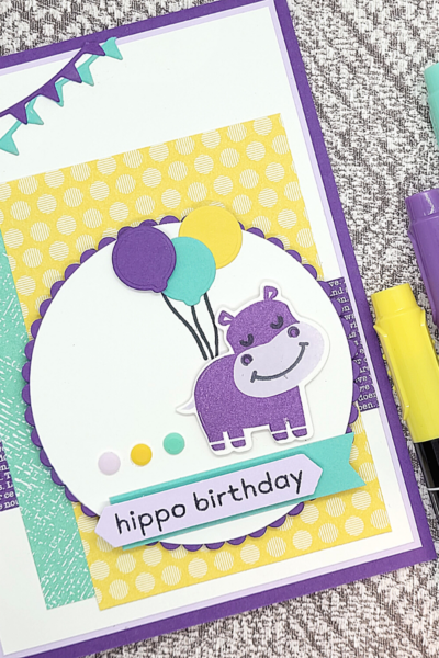 Hippo Birthday card with Hippo Happiness by Stampin' Up!