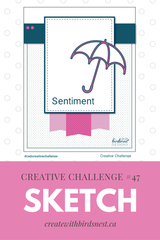 Creative Challenge #47: Card Sketch via @denise34
