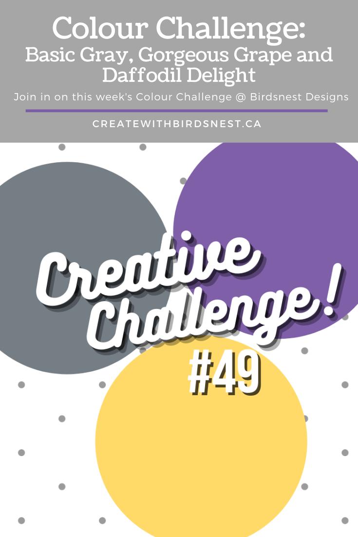 Creative Challenge #49: Colour Combination via @denise34