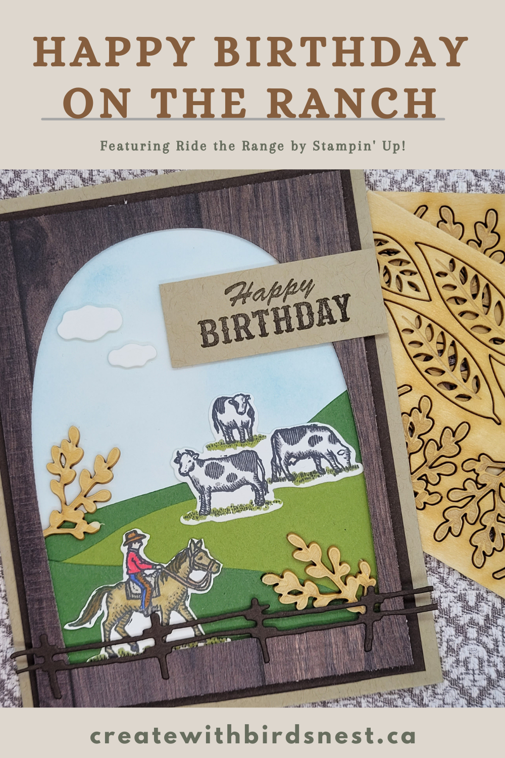 Ride the Range: Country Style Cards via @denise34