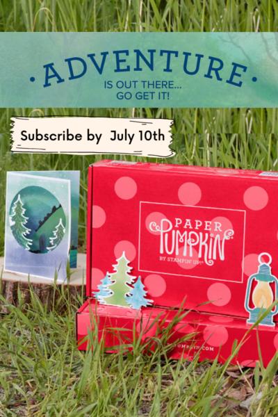 The Adventure Begins Paper Pumpkin July 2021
