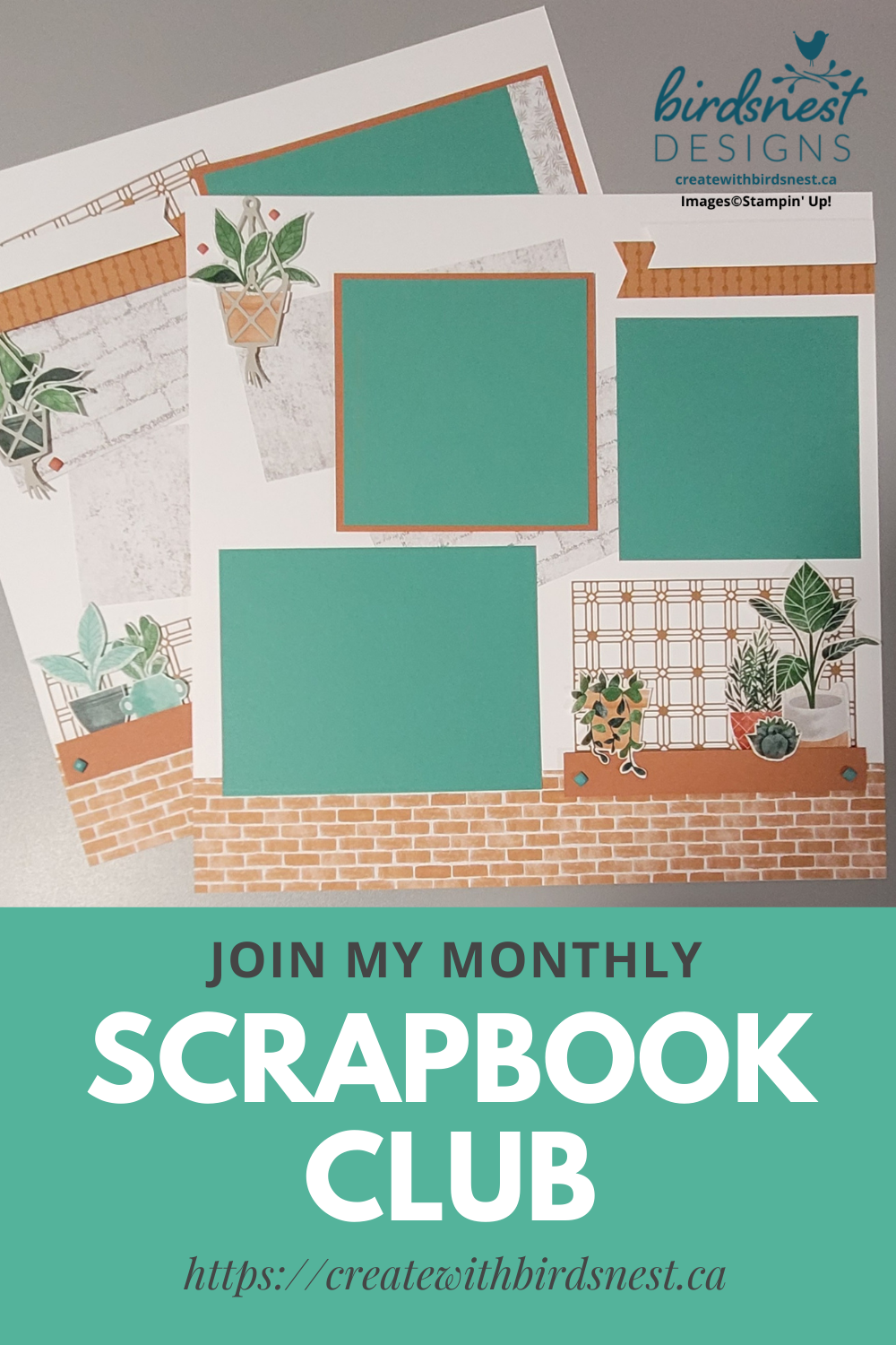 August Scrapbook Club Layout: Bloom Where You're Planted via @denise34