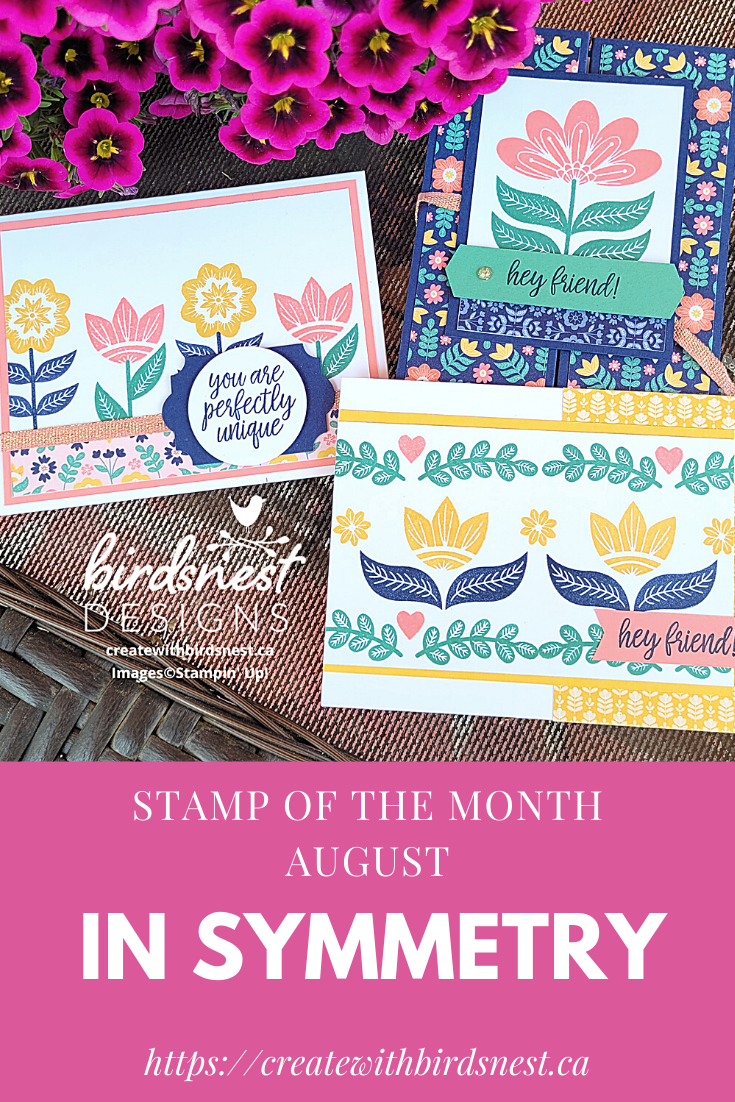 In Symmetry: August 2021 Stamp of the Month Club via @denise34